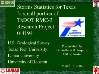 Storms Statistics for Texas