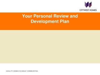 Your Personal Review and Development Plan