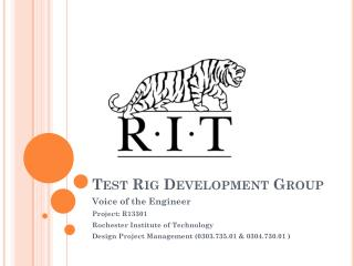 Test Rig Development Group