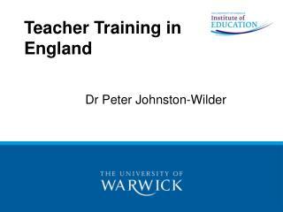 Teacher Training in England