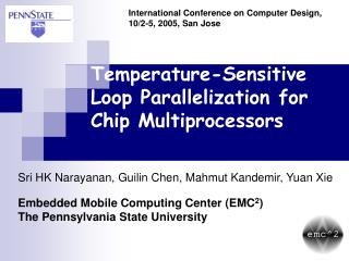 Temperature-Sensitive Loop Parallelization for Chip Multiprocessors