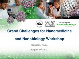 Grand Challenges for Nanomedicine  and Nanobiology Workshop Houston, Texas August 27 th , 2007