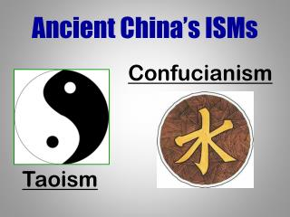 Ancient China's ISMs