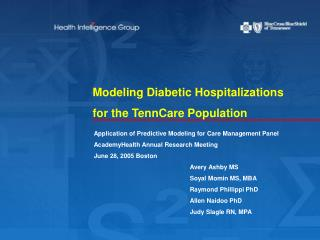 Modeling Diabetic Hospitalizations for the TennCare Population