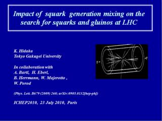 Impact of  squark  generation mixing on the search for squarks and gluinos at LHC