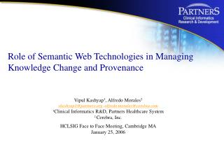Role of Semantic Web Technologies in Managing Knowledge Change and Provenance