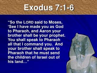 Exodus 7:1-6