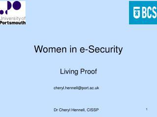 Women in e-Security
