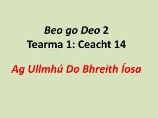 Beo  go  Deo  2 Tearma  1:  Ceacht  14 Ag  Ullmhú  Do  Bhreith Íosa