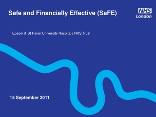 Developing the Gloucestershire Hospitals NHS Foundation Trust  Strategic Performance Management Framework
