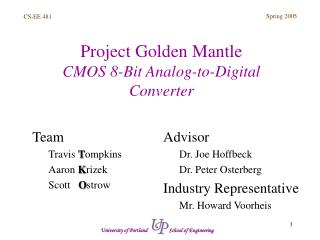 Project Golden Mantle CMOS 8-Bit Analog-to-Digital Converter