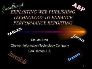 EXPLOITING WEB PUBLISHING TECHNOLOGY TO ENHANCE PERFORMANCE REPORTING