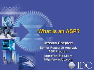 What is an ASP?