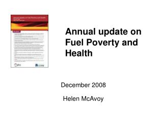 Annual update on Fuel Poverty and Health