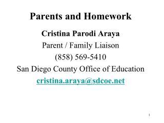 Parents and Homework