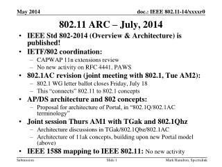 802.11 ARC � July, 2014
