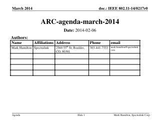 ARC-agenda-march-2014