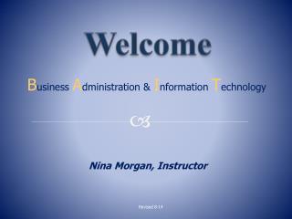 Nina Morgan, Instructor