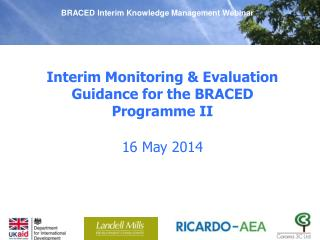 Interim Monitoring & Evaluation Guidance for the BRACED Programme II