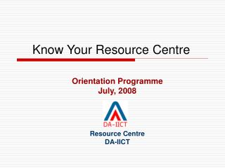 Know Your Resource Centre