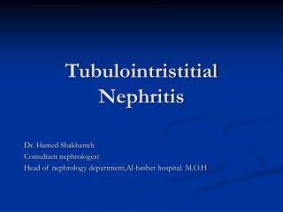 Tubulointristitial Nephritis