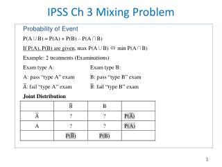 IPSS  Ch 3 Mixing Problem