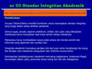 ac 03 Standar Integritas Akademik