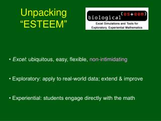 "Unpacking ""ESTEEM"""