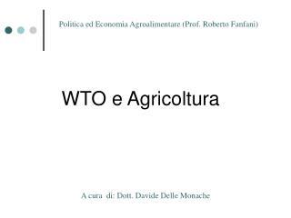 WTO e Agricoltura
