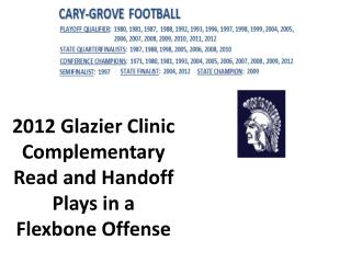 2012 Glazier Clinic Complementary Read and Handoff Plays in a Flexbone Offense