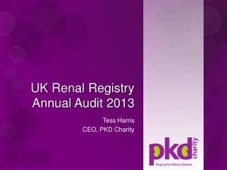 UK Renal Registry Annual Audit 2013