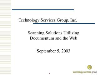 Technology Services Group, Inc.
