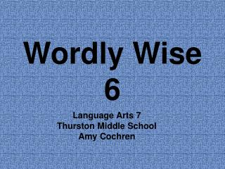 Wordly Wise 6