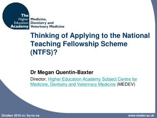 Thinking of Applying to the National Teaching Fellowship Scheme (NTFS)?