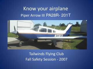 Tailwinds Flying Club Fall Safety Session - 2007