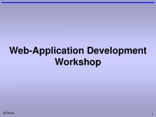 Web-Application Development Workshop