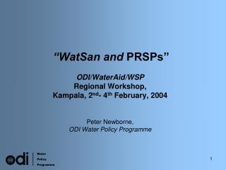 �WatSan and  PRSPs�