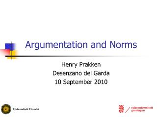 Argumentation and Norms