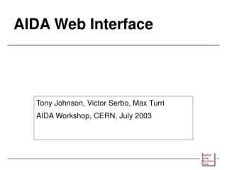 AIDA Web Interface