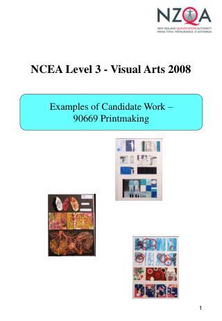 NCEA Level 3 - Visual Arts 2008