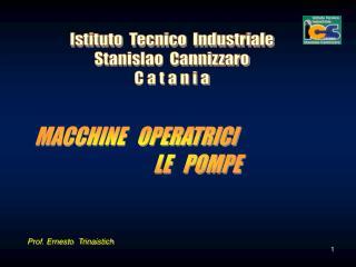 Istituto  Tecnico  Industriale Stanislao  Cannizzaro C a t a n i a
