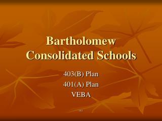 Bartholomew Consolidated Schools
