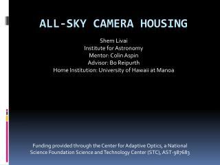 All-sky camera housing