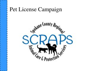 Pet License Campaign