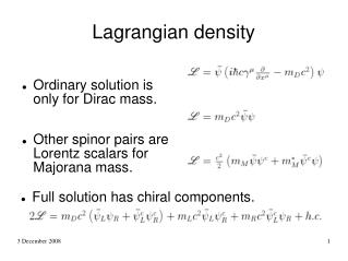 Lagrangian density