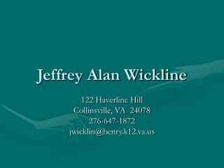 Jeffrey Alan Wickline