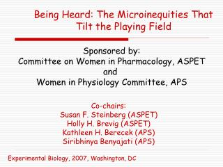 Being Heard: The Microinequities That Tilt the Playing Field
