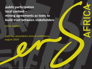 otsile matlou sadc  law association annual conference  august 2014