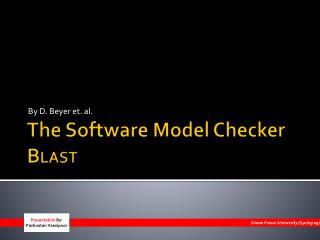 The Software Model Checker B LAST