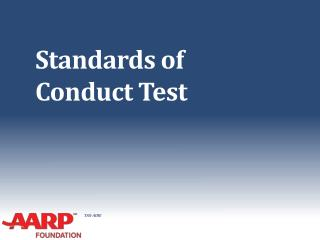 Standards of Conduct Test
